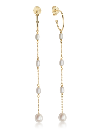 Pearl Earrings with chain